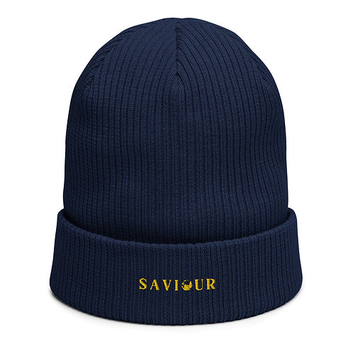 SAVIOUR - Organic Ribbed Beanie (Blue)