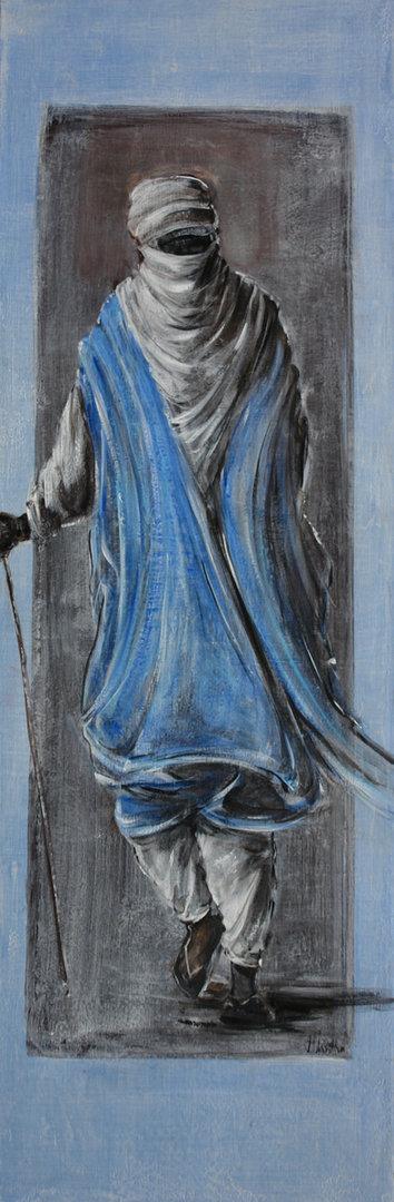 150X50 cm - l'homme bleu 2018