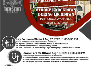 STROKE KNOCKDOWN DURING LOCKDOWN:  VIRTUAL STROKE WEEK 2020