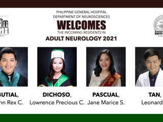 The Department of Neurosciences welcomes the new batch of Adult Neurology residents for 2021