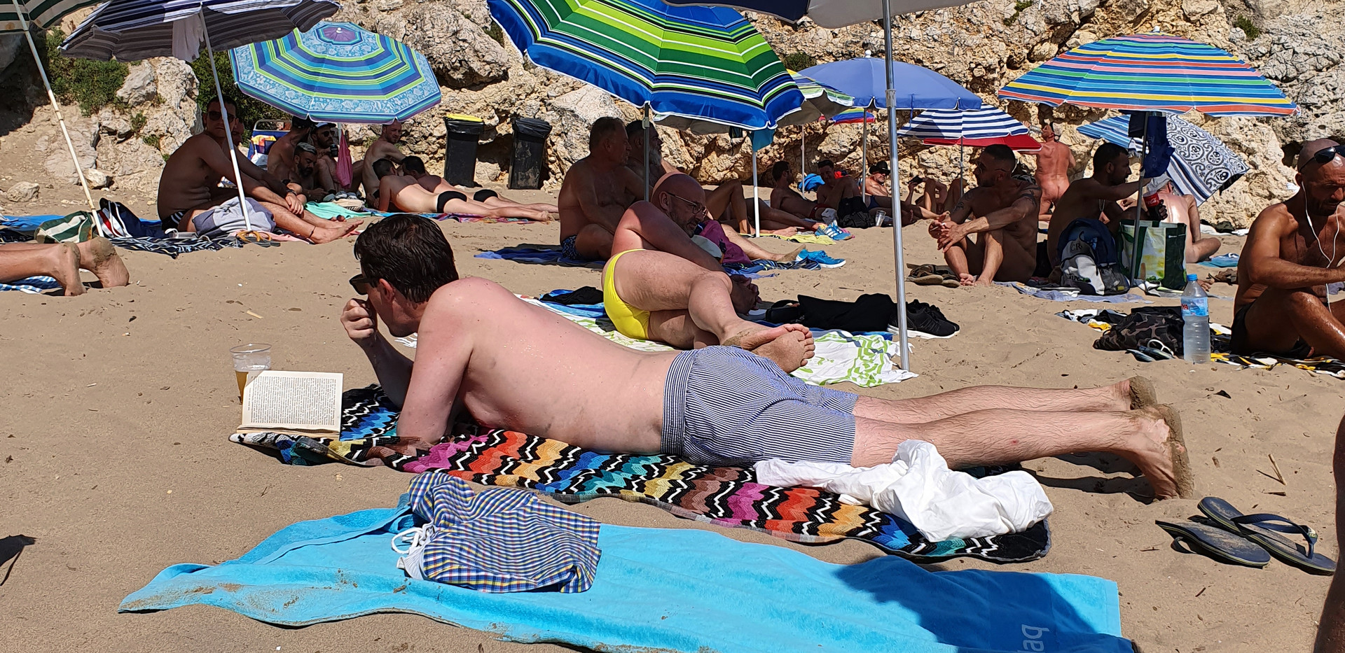 Tanning on the Gay Beach