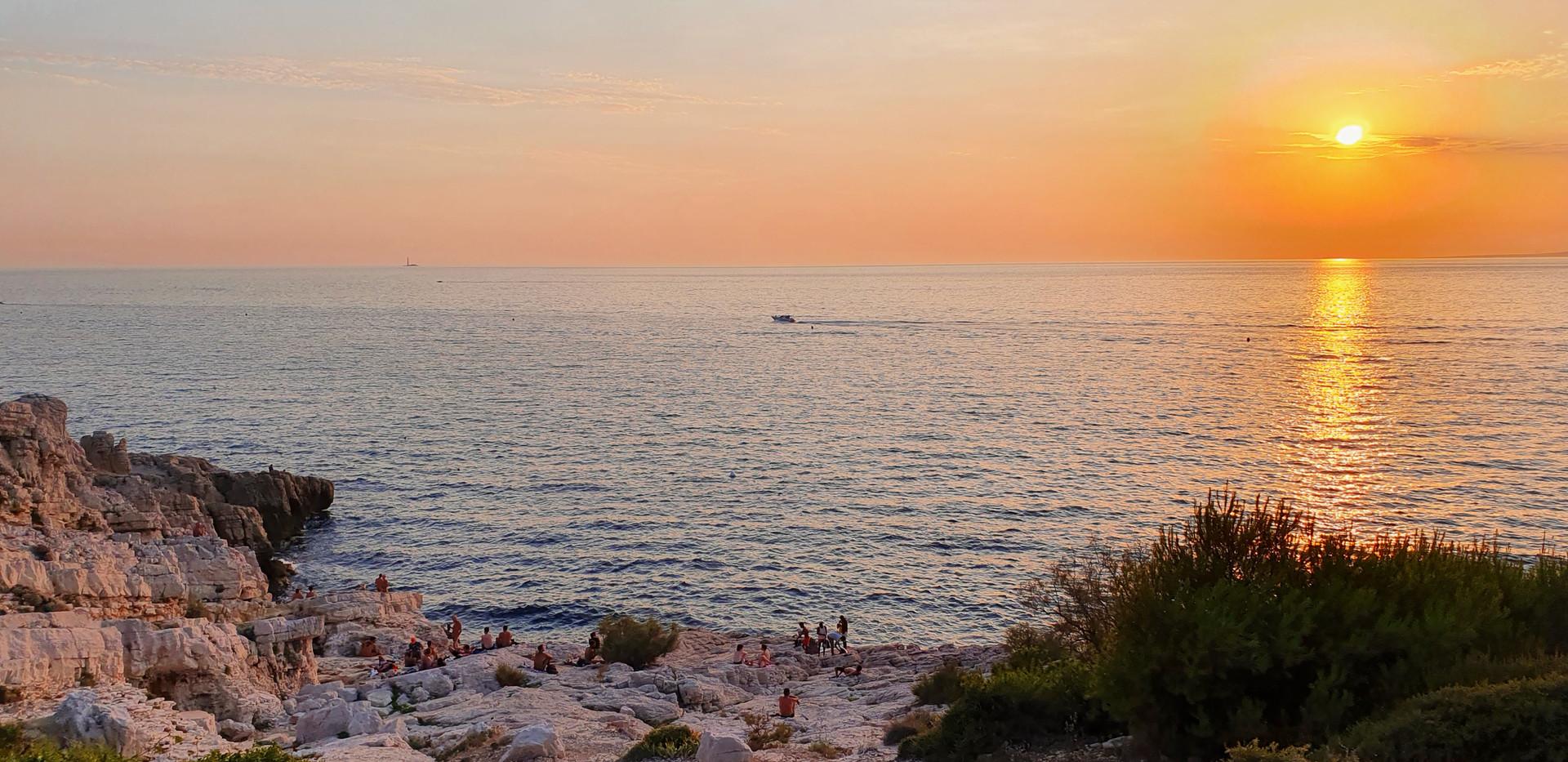 Sunset on a gay beach!