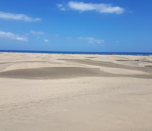 Dunes in Gran Canaria.