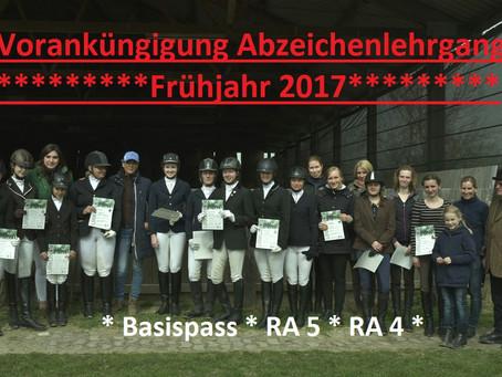 Reitabzeichen 2017 🐎