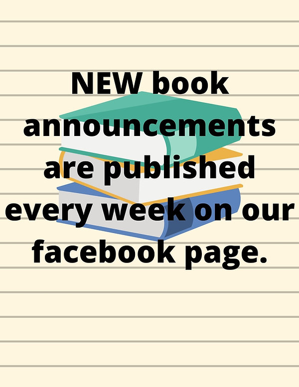 NEW books announcements are published ev