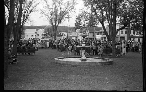 1946 dedication of Canaan Memorial Schools building in Fletcher Park