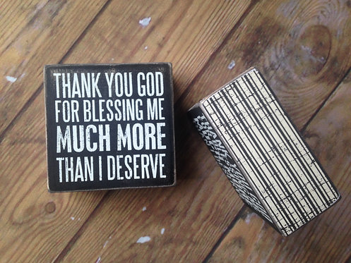 Thank You God - Box Sign