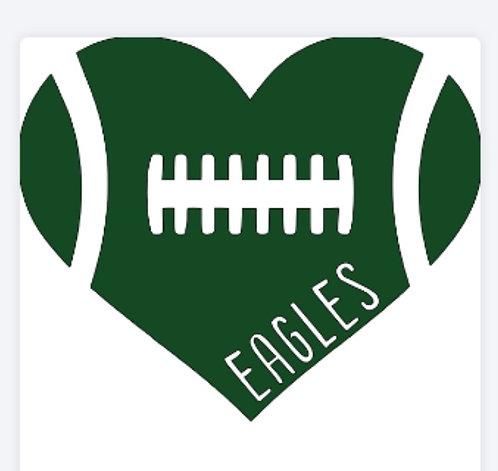 Customizable Heart Football Tee