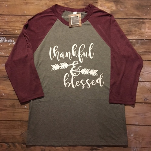 Thankful & Blessed Tee