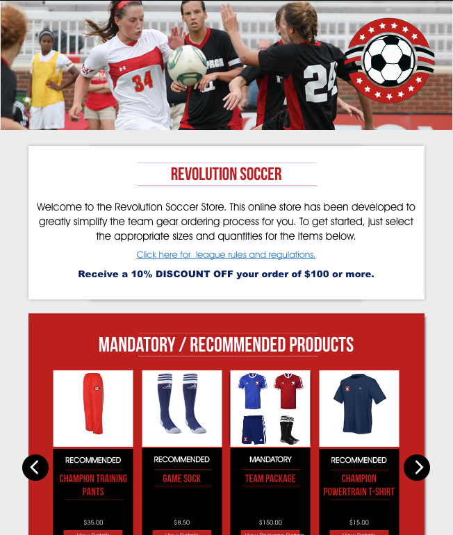 Team Store Example