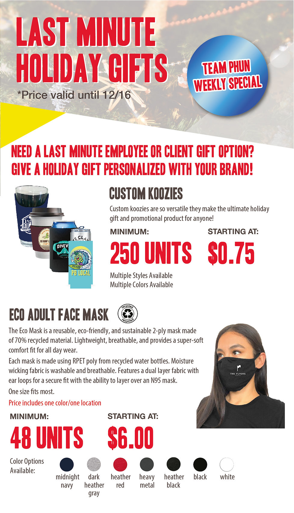 weekly special - last min holiday gift s