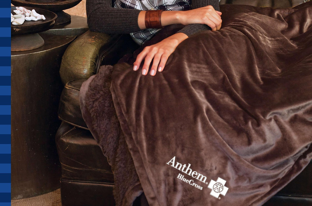 This velour blanket has you covered, literally! Soft velour on one side with a plush extra thick pile on the other. It even comes with a zippered compartment, to store your snacks obviously!