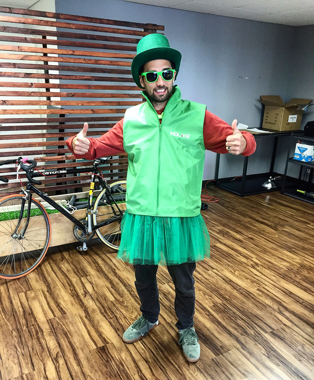 Jesse in Full St. Paddy's Day Attire