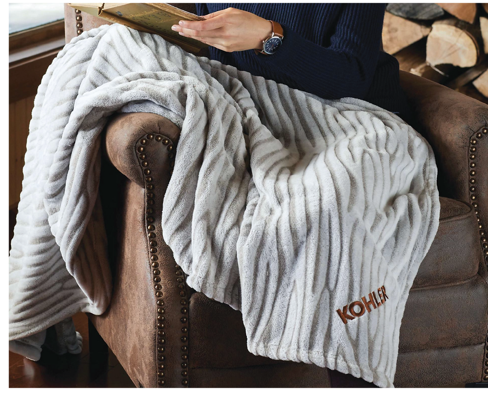 Made of ultra soft fleece, this blanket is a perfect combo of comfort and soothing colors. Imagine your brand's logo embroidered on this eye catching blanket!
