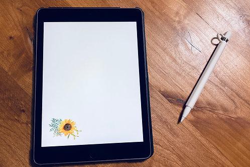 Letter Writing Paper Sunflower