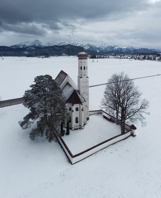 Bavarian church in Winter