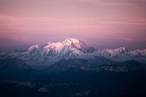 Mont Blanc during blue hour