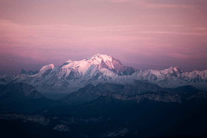 Mont Blanc during blue hour - LMITED