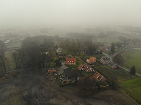 Het Stift on a misty Spring morning