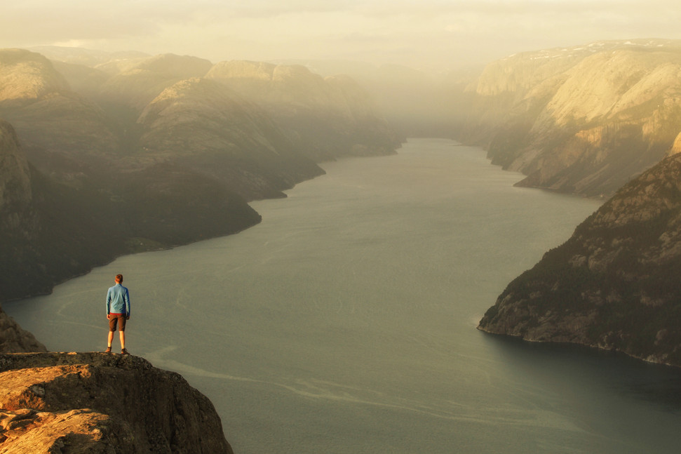 Taking in the view, Lysefjord