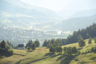 Morning view on Scuol
