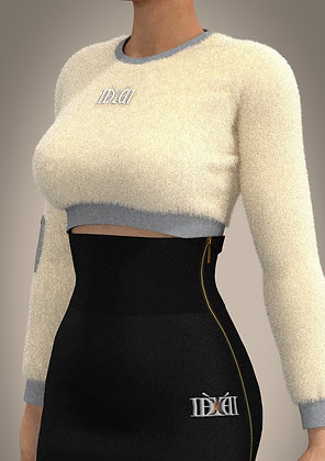 Sovereign Faux Fur Crop -Top
