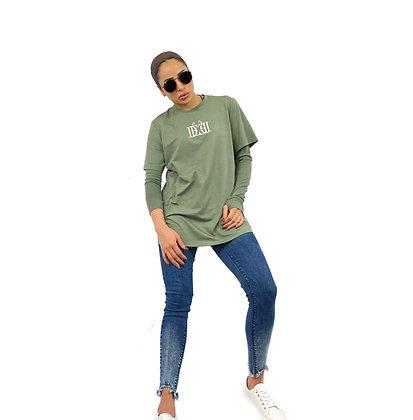 DÈCOROUS Olive Baggy T-shirt