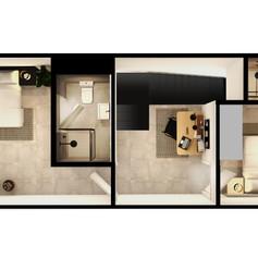 Black Brick Floor Plan Unit 4-025 Mez [H