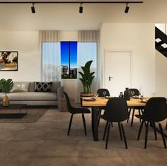 Black Brick Penthouse Living 1 [High Res