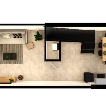 Black Brick Floor Plan Unit 4-025 Lower