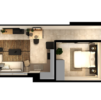 Black Brick Floor Plan Unit 1-031 [High