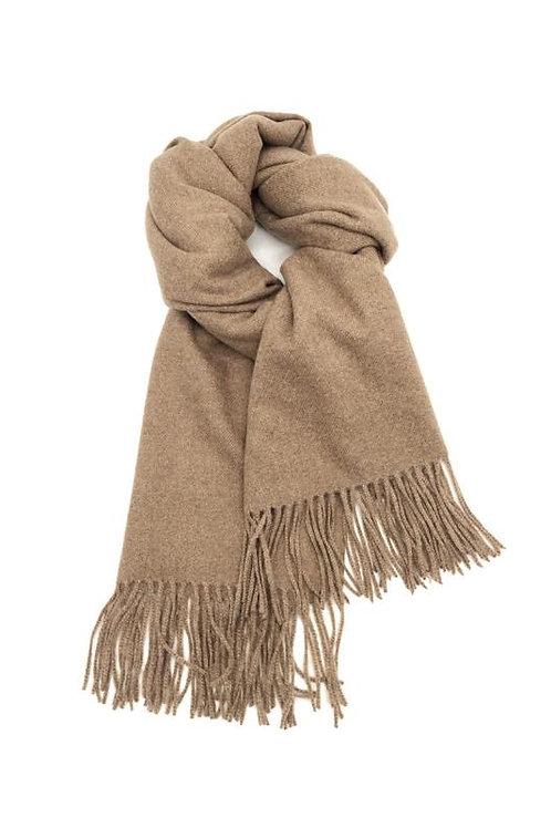 Schal aus weichem Kaschmir-Mix taupe