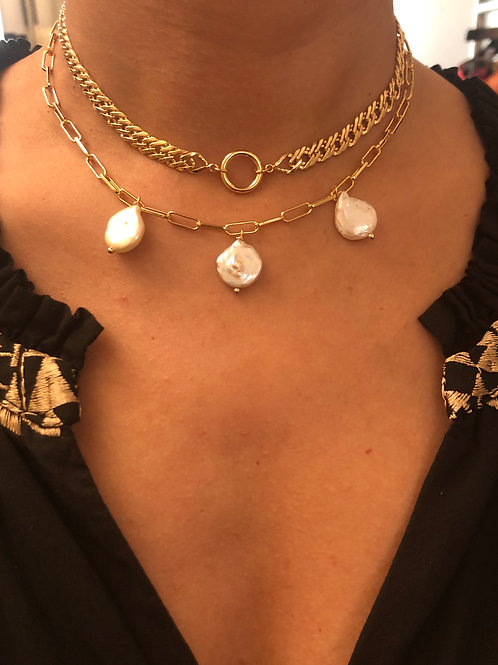 Chunky Necklace mit 1 Ring