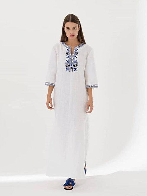 Yiorgos Koulasidis weißes Leinenkleid
