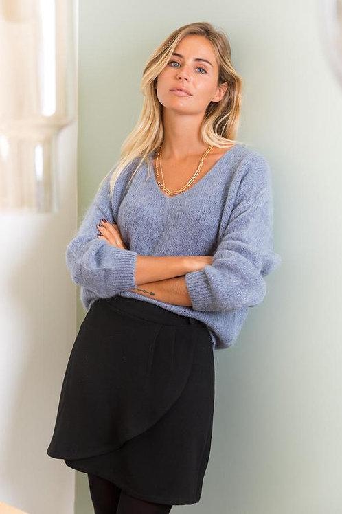 Pullover mit V-Ausschnitt lavendel