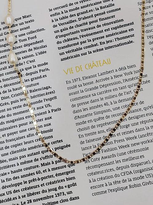 Goldkette Paris mit echten Perlen