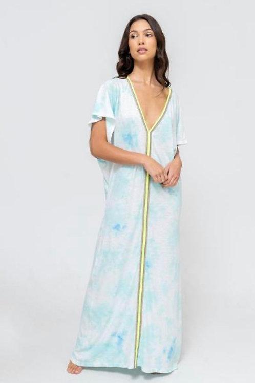 Tie Dye Pima Abaya Light Blue