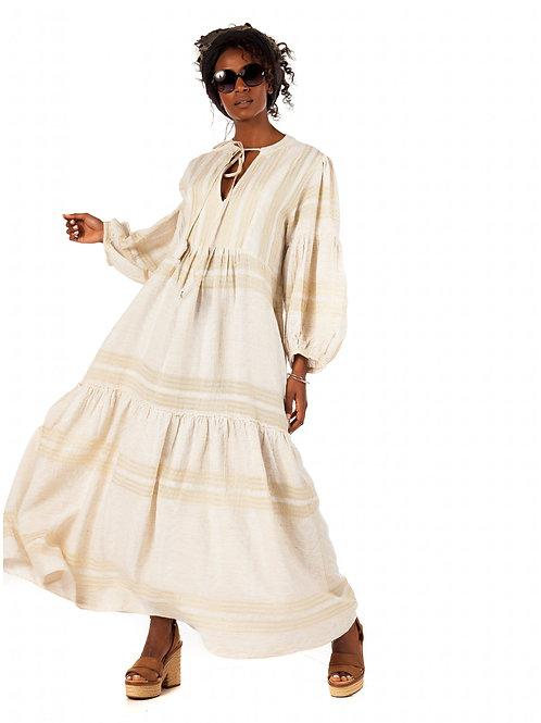 Langes Tunika-Kleid Gold