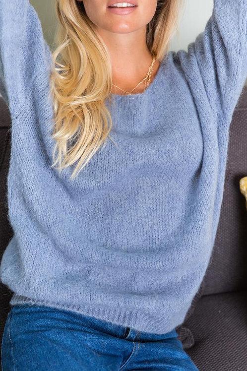 Pullover mit Rundhalsausschnitt lavendel