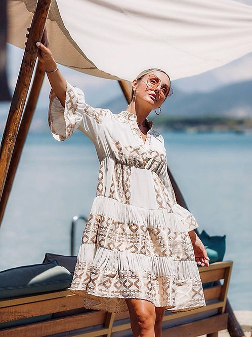 Lace Kleid mit Gold-Details