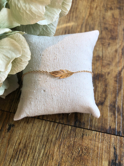 Armkette 'Feder' gold