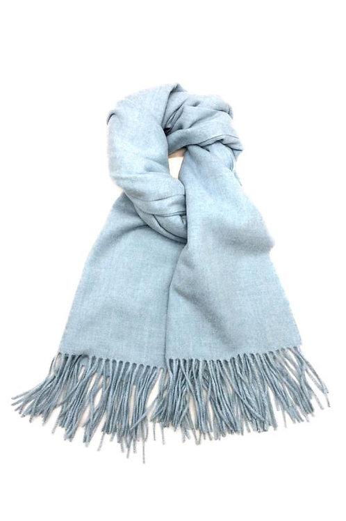 Schal aus weichem Kaschmir-Mix himmelblau