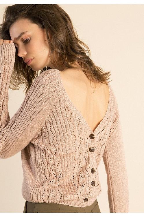 Pullover mit Rückenausschnitt nude