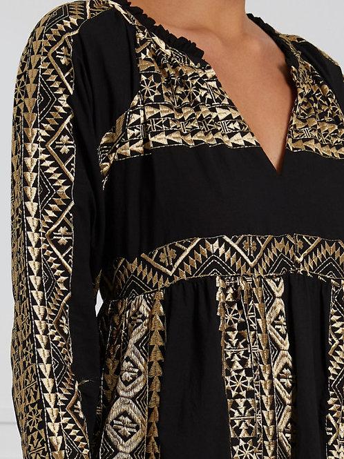 Kleid black/ gold