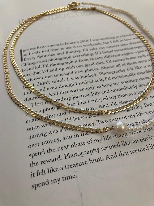 Lola Double Necklace mit echten Süßwasserperlen