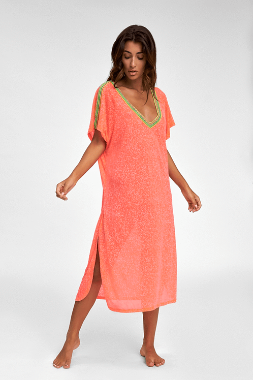 Pitusa V-Back Dress Watermelon