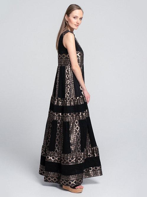 Lace langes ärmelloses Kleid