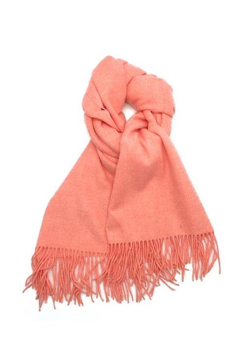 Schal aus weichem Kaschmir-Mix lachs