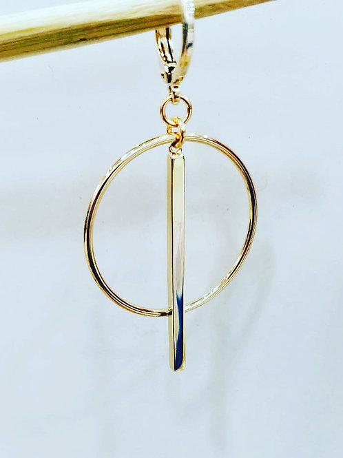 Goldene Ohrringe Hoops I