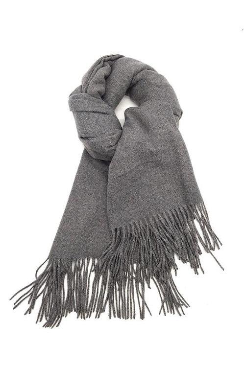Schal aus weichem Kaschmir-Mix anthrazit